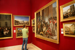 Paris Art Gallery with battle scenes Stock Image