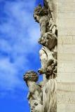 Paris artwork. Arc de Triomphe relief artwork statues (side view Royalty Free Stock Images