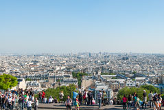 Paris as viewed from Montmartre Royalty Free Stock Images