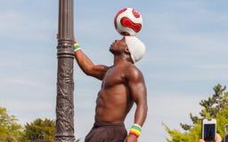 paris Atração com a bola Fotografia de Stock Royalty Free