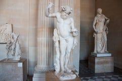PARIS-AUGUST 16 :希腊雕象在8月16,2009的罗浮宫在巴黎,法国。 库存照片