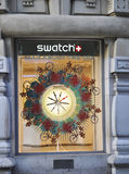 Paris,august 14-Watch design at window in Paris Stock Images