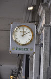Paris,august 18-Rolex Clock stock photography