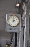 Paris,august 18-Rolex Clock Stock Photography
