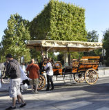 Paris,august 20-Beautiful Cart in Paris stock photos