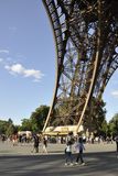 Paris,august 20-Pier of Eiffel Tower in Paris Royalty Free Stock Image