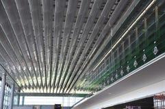 Paris,august 21-Airport interior of Charles de Gaulle in Paris Royalty Free Stock Photo