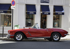 Paris,august 16-Aged Car in Paris Stock Images