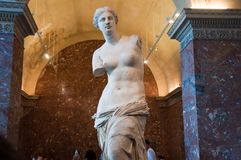 PARIS-AUGUST 18: Aphrodite of Milos at the Louvre Museum, August 18, 2009 in Paris, France. Stock Images