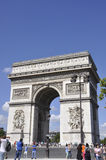 Paris,august 20-Arc de Triomphe in Paris Stock Photography