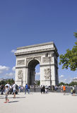 Paris,august 20-Arc de Triomphe in Paris stock images