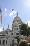 Paris august basilika för 19,2013-Sacre Coeur i Paris Arkivfoto