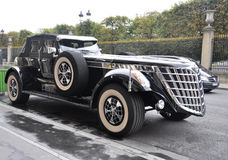 Paris,august 20-Beautiful Vintage Car in Paris Royalty Free Stock Images
