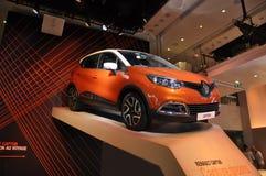 Paris august bil 20-Renault i visningslokal i Paris Royaltyfri Fotografi