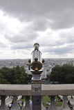 Paris,august 19,2013-Binocular from Basilica Sacre Coeur in Paris Royalty Free Stock Photography