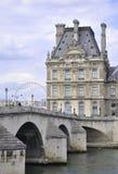Paris august bro 16,2013-Seine i Paris Fotografering för Bildbyråer
