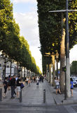 Paris,august 14,2013-Champs Elysees promenade stock photography