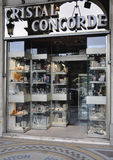 Paris,august 18-Crystals Shop on Concorde in Paris Royalty Free Stock Images