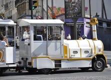 Paris august 19, det övre drevet 2013-Close av sight turnerar i Montmartre i Paris Arkivfoto