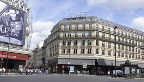 Paris,August 17,2013-Galeries La Fayette exterior Stock Image