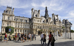 Paris,August 17,2013-Hotel de Ville in Paris Stock Photos