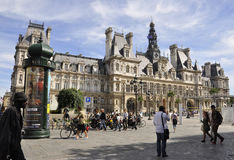 Paris,August 17,2013-Hotel de Ville in Paris Stock Images