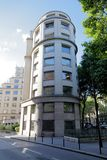 Cylindrical building in Paris, France Stock Image