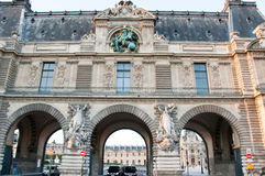 PARIS-AUGUST 15: The Louvre Museum on August 15,2013 in Paris. France. Royalty Free Stock Photo