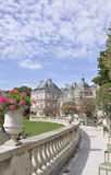 Paris,august 15,2013-Luxembourg Garden in Paris stock photo