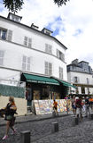 Paris,august 19,2013-Montmartre street in Paris Stock Photography