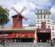 Paris,august 18,2013-Moulin Rouge Cabaret in Paris Royalty Free Stock Photo