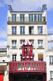 Paris,august 18,2013-Moulin Rouge entrance in Paris Royalty Free Stock Images