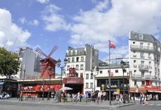 Paris,august 18,2013-Moulin Rouge in Paris Stock Images