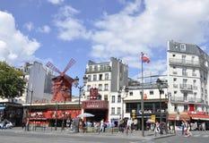 Paris,august 18,2013-Moulin Rouge in Paris Stock Images