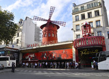 Paris,august 18,2013-Moulin Rouge in Paris Royalty Free Stock Images