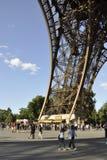 Paris august 20-Pier av Eiffeltorn i Paris Royaltyfri Bild