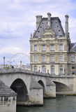 Paris,august 16,2013-Seine Bridge in Paris stock image