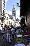 Paris,august 19,2013-Street in Montmartre district in Paris Stock Image