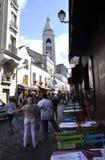 Paris,august 19,2013-Street in Montmartre district in Paris Stock Image