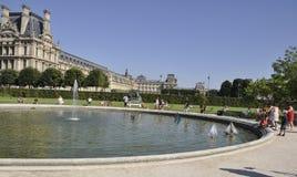 Paris august trädgård 18,2013-Tuileries i Paris Frankrike Arkivfoton