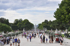 Paris,august 18,2013-Tuilleries Garden stock photography