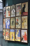 Paris,august 19,2013-Vintage Advertiseing in Montmartre in Paris Stock Photography