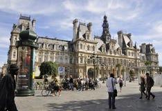 Paris Augusti 17,2013-Hotel de Ville i Paris Arkivbilder