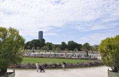 Paris Augusti 15,2013-Luxembourg trädgård i Paris Royaltyfri Bild