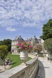 Paris Augusti 15,2013-Luxembourg trädgård i Paris Arkivbild