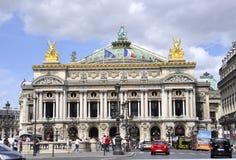 Paris Augusti 15,2013-Opera Garnier Building i Paris Arkivbilder
