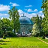 Paris, the Auteuil greenhouses stock images