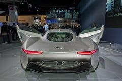Paris Auto Show, Jaguar Electric Racing Car. Paris, France, Paris Car Show, Jaguar Electric Racing Car, XJL Royalty Free Stock Photo