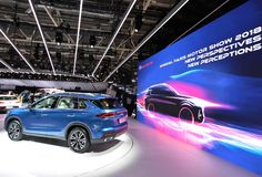 Paris-Autoausstellung 2018 - GAC GS5 stockbild