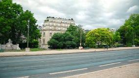 Paris Avenue Foch stock video footage